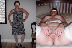My wife dressed and undressed