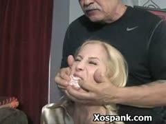bdsm whore spanked wildly