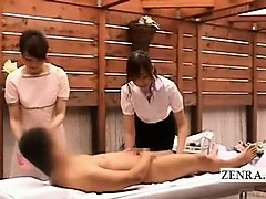 subtitled cfnm japanese massage weird fellatio cleanup