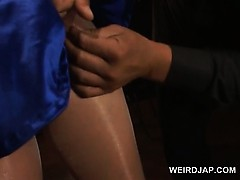 asian-preggo-in-ropes-cunt-teased-in-torn-pantyhose