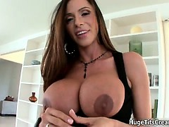 Busty Brunette Babe Goes Crazy Showing Part3