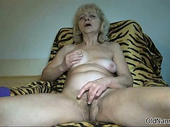 Nasty Old Woman Goes Crazy Rubbing Part4
