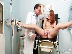 redhead-denisa-gyno-pussy-speculum-examination-at-clinic