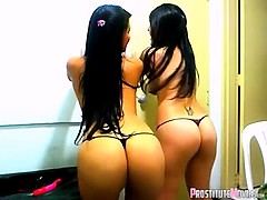 Topless Latin Girls Dance N Tease On Webcam