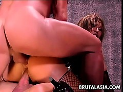 Ava Devine Gets A Brutal Dp Drilling