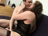 French mature Francoise fucked in threesome
