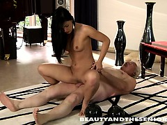 Brunette Teen Gets Fucked By An Old Dude