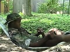 black-soldier-masturbating-outside