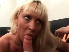 Big Boobed Blonde Gives Hot Blowjob