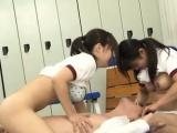 Japanese AV Model and gals suck shlong