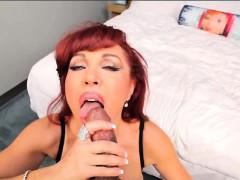 Sexy Vanessa Sucks Josh Stones Black Cock