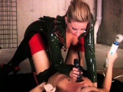 mistress-in-latex-toying-sub-blonde-lesbian
