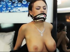 Beautiful Big Tits Babe Tied Up And Gagged
