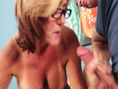 tugging-glam-gran-takes-spex-off-for-cumshot