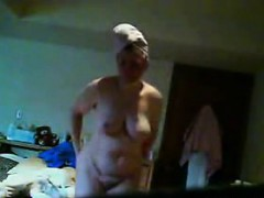granny janine spied in her bedroom granny sex movies
