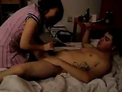 Cocksucking Chinese Chick Rides Cock