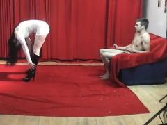 19yo-casting-boy-gets-wild-striptease-from-nasty-milf