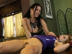 Gagged And Tied Down Lesbian Squirting