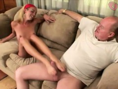 Yenny Gives Grandpa Hot Footjob
