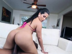 Latina fucks black cock