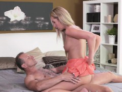 mom stunning blonde milf with amazing body blows and nails