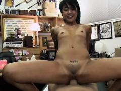 petite asian chick takes penis