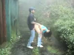 Sri Lankan couple outdoor sex