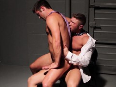 ripped-officehunks-screw-in-warehouse
