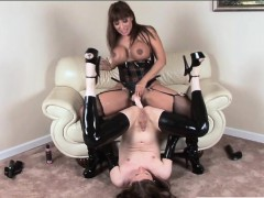 Busty Milf Anal Fucked And Cum Facialed By Sexy Shemale
