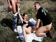 teen bitch fist banged outdoors by two brutes – سكس اغتصاب وتعذيب نار