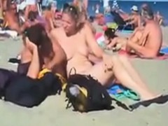 Public nude beach swinger sex in summer 2015