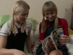 russian-schoolgirls-studing-for-class