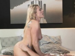 Blonde Mature Lady Fucks Hard In Bedroom
