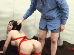 ropes-and-dildos-in-her-deep-asshole-fucked-by-a-pig