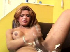 stroking-her-huge-cock-with-shaving-cream-makes-tgirl-squirt