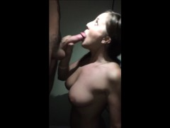 hot cheating wife blowing his dick to orgasm