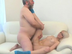 Diminutive Youthful Vixen Rides Old Ding-dong