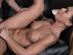 mom kinky horny and tanned milf rides young studs fat penis