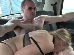 busty female fake taxi driver fucks