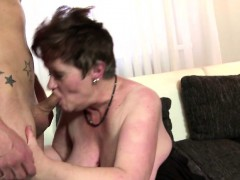 chubby granny satisfying a young cock