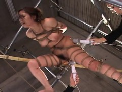 asian honey roped up getting toy nailed marvelously