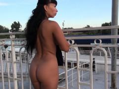 Nude on the street