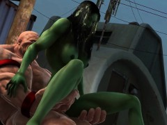 3d-toon-mutant-babe-gets-fucked-hard-outdoors