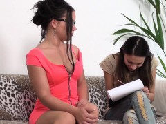 Brunette Petra turns up for casting and gets more than she