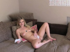 hot british blonde nailed after interview