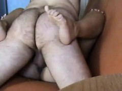 Lustful Wife Has Her Chubby Husband Hammering Her Pussy On