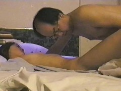 Cute Japanese Girl Toys Herself And Rides On An Old Man's P