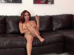 wild ashlee gets nailed doggy style and takes a sexy load on her boobs