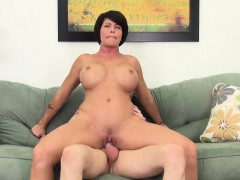 voluptuous mommy shay fox finishes her man off with her luscious lips