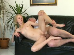 Adorable Youthful Sweetie Enjoys Rear Fuck With Old Boy